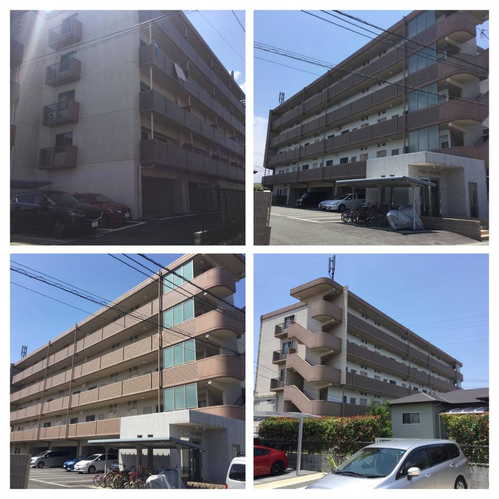 熊本市東区東野 ベルレージュR2外壁塗装工事