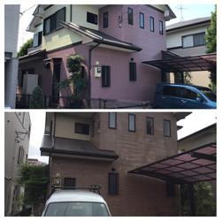 熊本市中央区八王寺町 S様邸外壁塗装工事