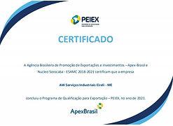 Certificado Comex Brazil