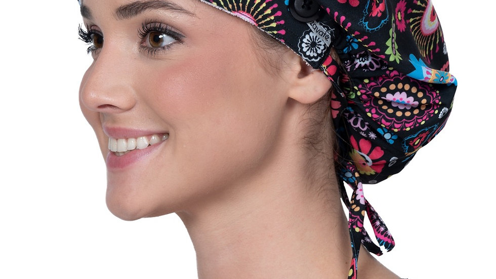 Bouffant Scrub Cap W/SideButtons-Cute and Cool
