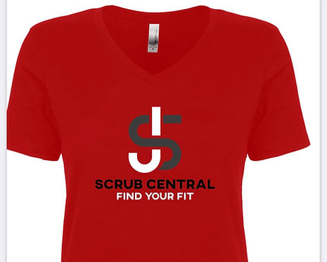 Scrub Central V-Neck T-Shirt