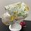 Thumbnail: Pretty Yellow Flower Bouffant and  Mask Set