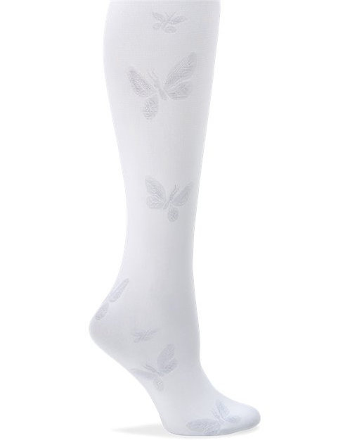 Nurse Mates Compression Trouser Butterfly - White 883644