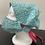 Thumbnail: Green and White Swirl Bouffant and Mask Set