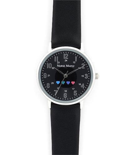 Nurse Mates Have a Heart Watch - Black NA00192