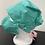 Thumbnail: Turquoise Print Bouffant and Mask Set