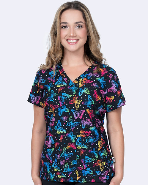 Audrey Print Top - Flying Color (1054)