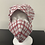 Thumbnail: Red and White Plaid Bouffant and Mask Set
