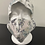 Thumbnail: Grey floral with white background  Bouffant and Mask Set