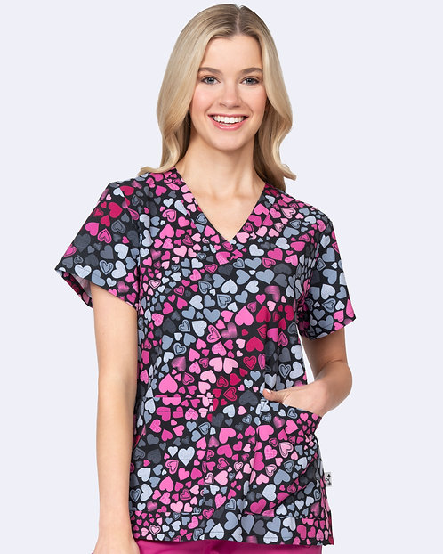 Audrey Print Top - Forever Love (1054)