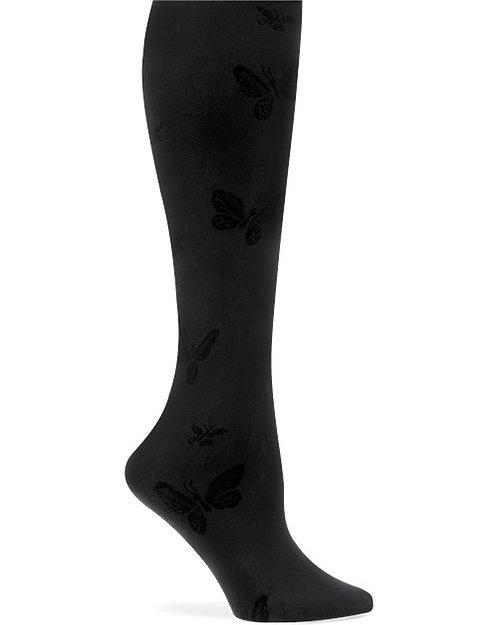 Nurse Mates Butterfly Compression Trouser Sock - Black 883648