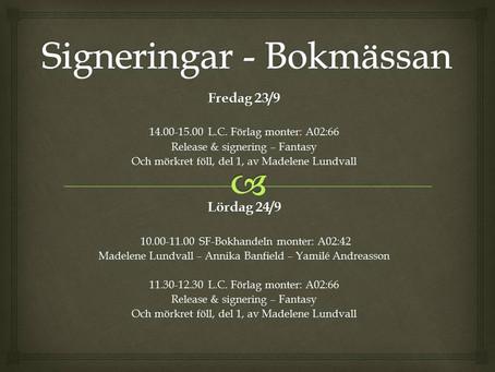 Signeringar - Bokmässan Göteborg 2016