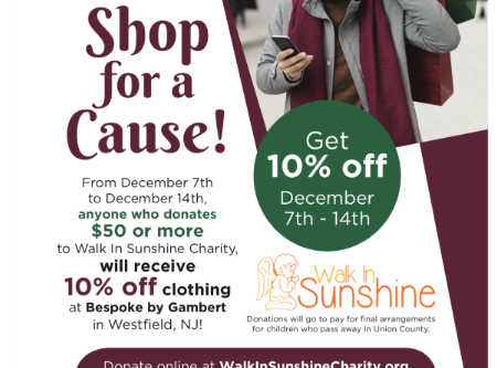 Walk In Sunshine In Midst of Holiday Fundraiser