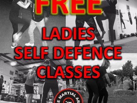 FREE LADIES SELF DEFENCE CLASSES