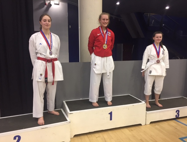 Bryony Smith and Faye Manning (Silver and Bronze Kumite)