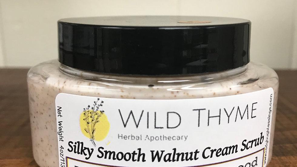 Silky Smooth Walnut Cream Scrub: Mahogany Teakwood
