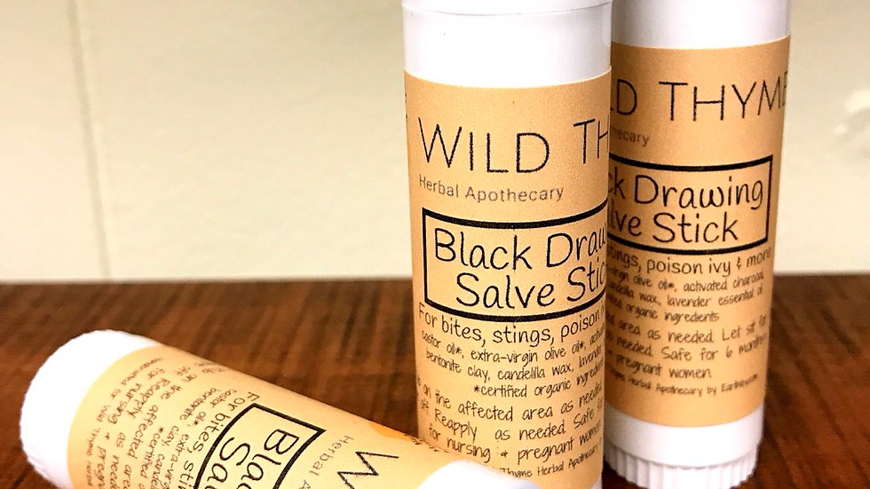 Black Drawing Salve Stick