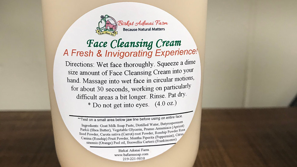 Face Cleansing Cream