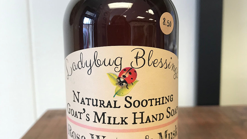 Rosewater and Musk liquid hand soap