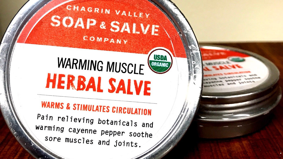 Warming Muscle Herbal Salve