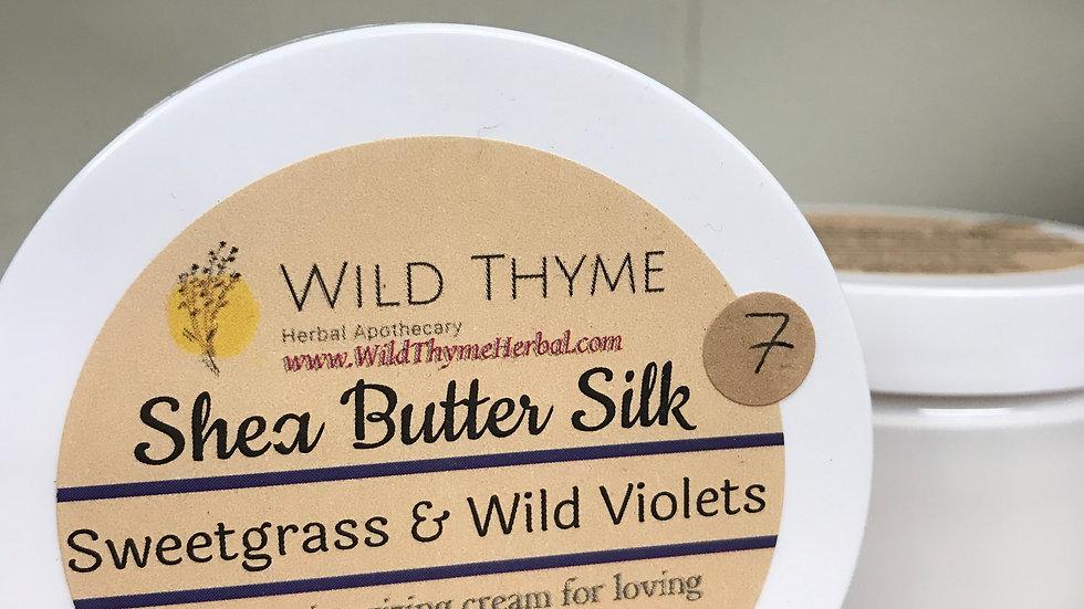 Shea Butter Silk: Sweetgrass & Wild Violets