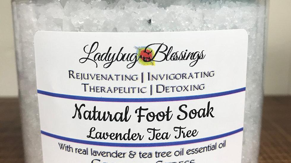 Natural Foot Soak: Lavender Tea Tree