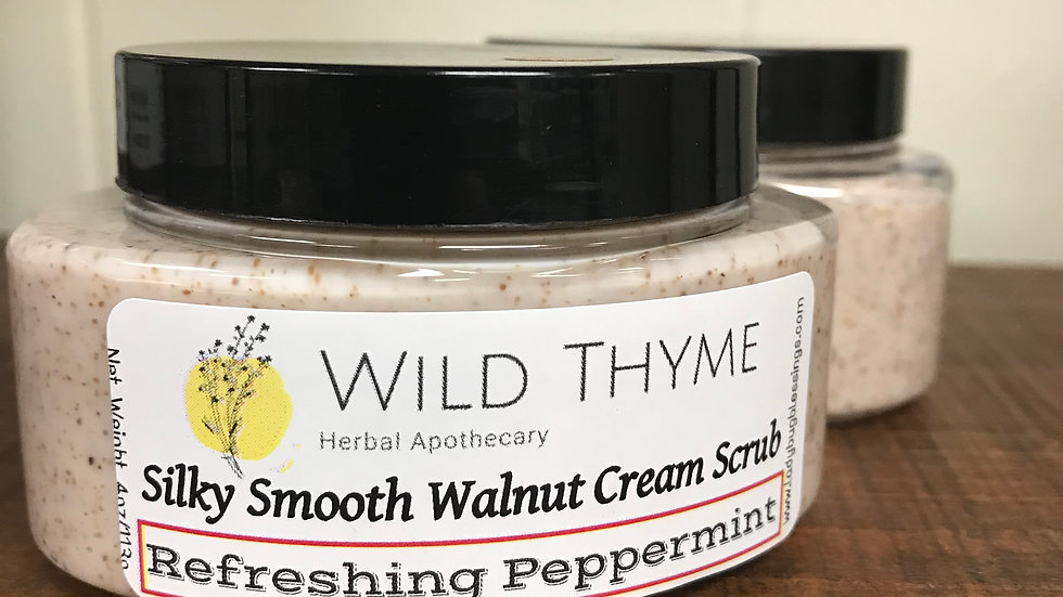 Silky Smooth Walnut Cream Scrub: Refreshing Peppermint