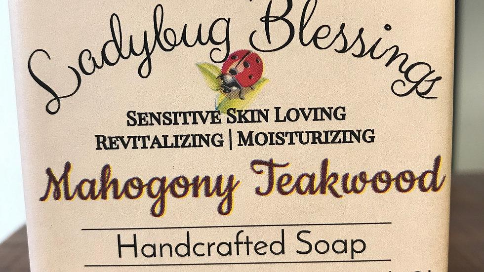 Mahogony Teakwood Goat Milk Soap