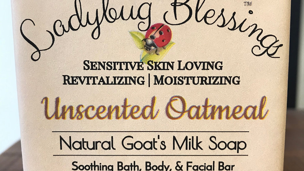 Unscented Oatmeal goat milk soap