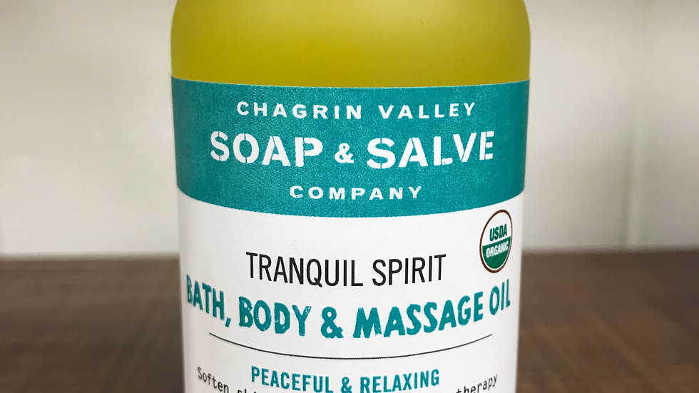 Tranquil Spirit Bath, Body & Massage Oil