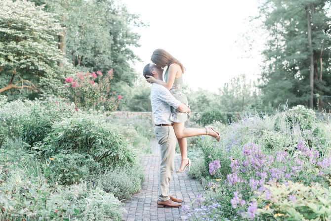 Cross Estate Gardens Engagement {Emily + Justin}