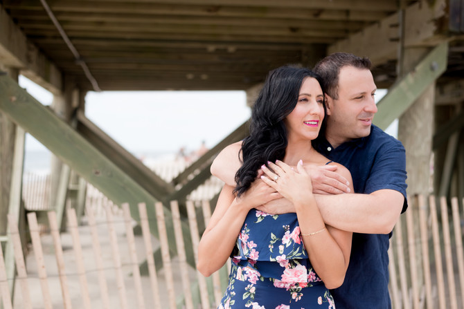 Point Pleasant Jersey Shore Engagement {Alicia + Lenny}