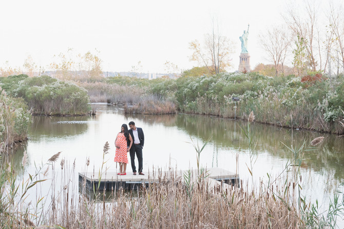 Preethi and Kathir + 1 {Maternity Session} Liberty State Park, New Jersey