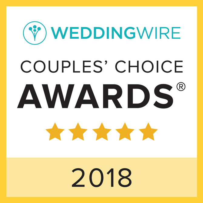 2018 Wedding Wire Couple's Choice Award!
