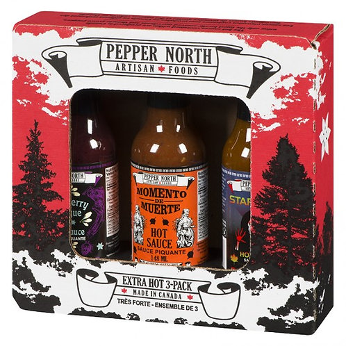 Pepper North Extra Hot 3-Pack Gift Set
