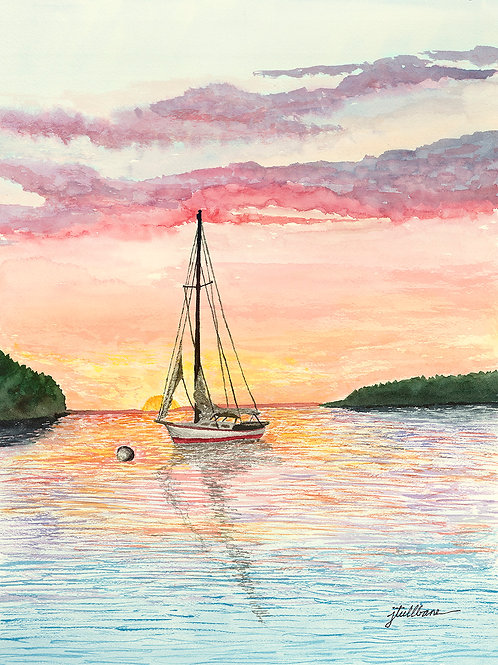 Sailboat in an Ephraim Sunset