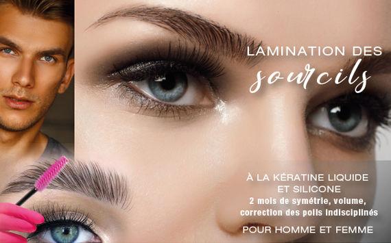 Lamination de sourcils