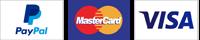 Payment Options Paypal Mastercard Visa
