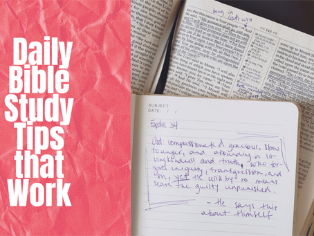 Daily Bible Study Tips that Work