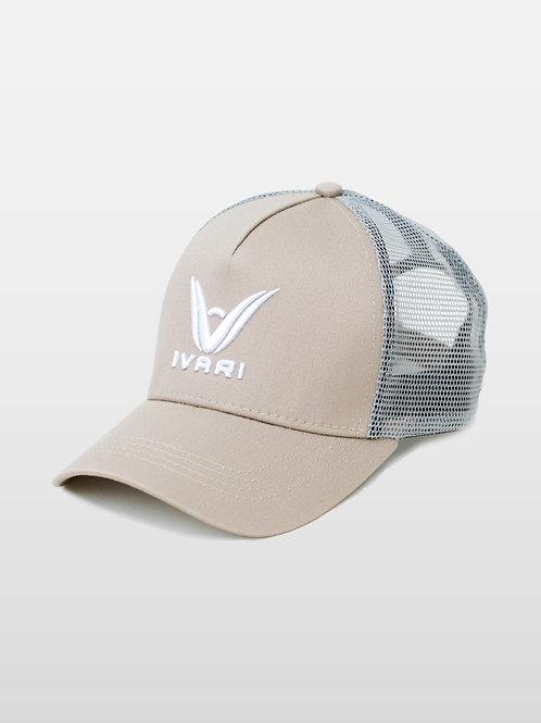 TRUCKER CAP - Beige/Silver