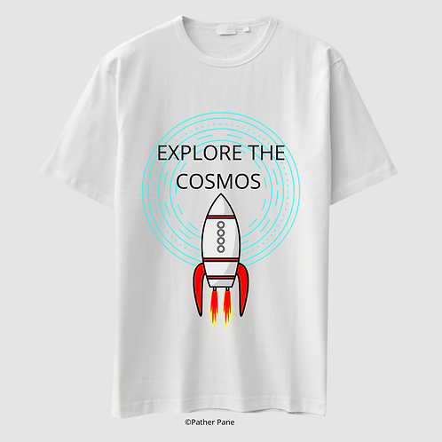 White T-shirt | Explore The Cosmos Edition