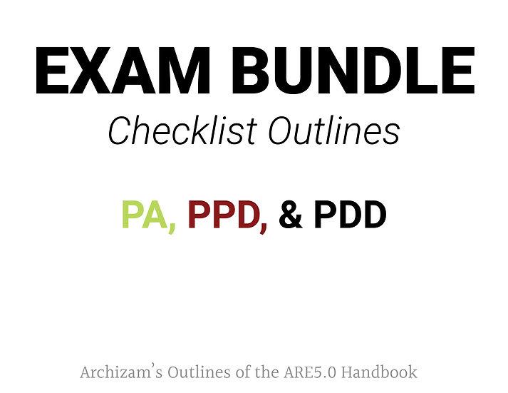 Exam Checklist Bundle - PA, PPD, PDD
