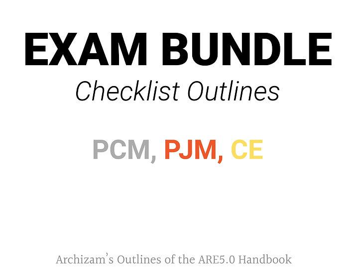 Exam Checklist Bundle - PCM, PJM, CE