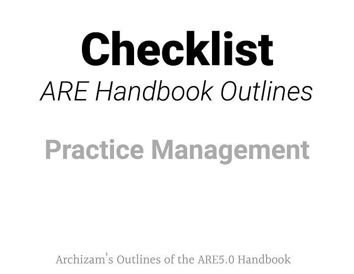 Practice Management Outline