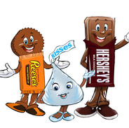 HERSHEY CHARACTERS REDESIGN
