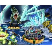 dark cave water ride
