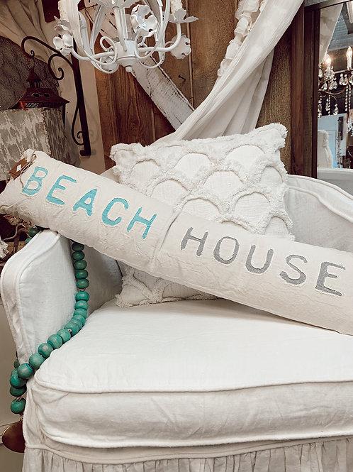 Beach House Skinny Tassel Pillow