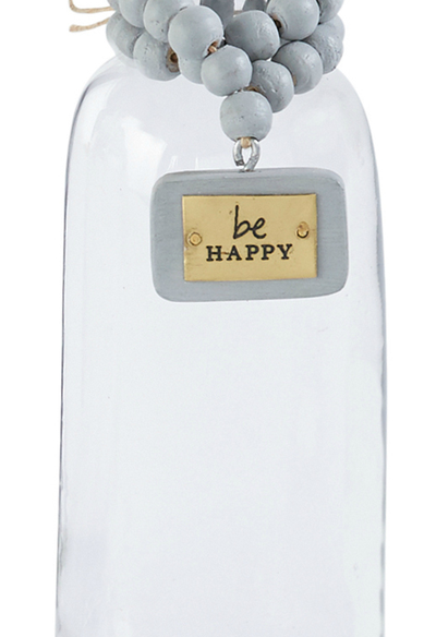Be Happy Bud Vase