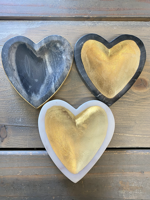 Marble Heart Tray