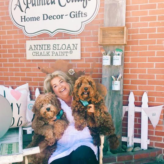 Karen (owner) and her pups